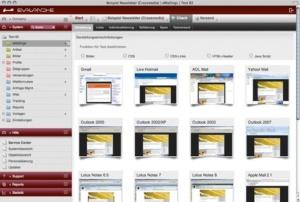 Quality through e-mail client preview